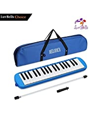 LuvBells™ 32 Key Melodica Musical Instrument With Carry Bag Accessories For Kids Beginner Baby Harmonica Piano And Keyboard for Music Lovers (Pink)
