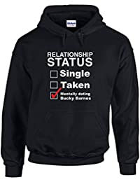 Mentally Dating Bucky Barnes, Printed Hoodie