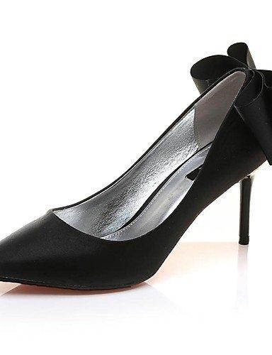 WSS 2016 Chaussures Femme-Bureau & Travail / Décontracté / Soirée & Evénement-Noir / Argent-Talon Aiguille-Talons-Chaussures à Talons-Synthétique black-us8 / eu39 / uk6 / cn39