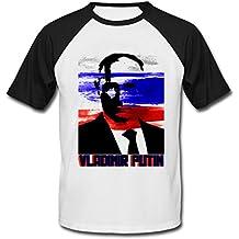 Teesquare1st PUTIN VLADIMIR RUSSIAN PRESIDENT CAMISETA DE MANGAS NEGRA CORTAS T-shirt