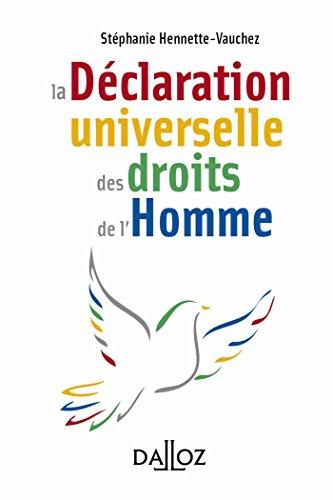 la Dclaration universelle des droits de l'Homme - 1re dition