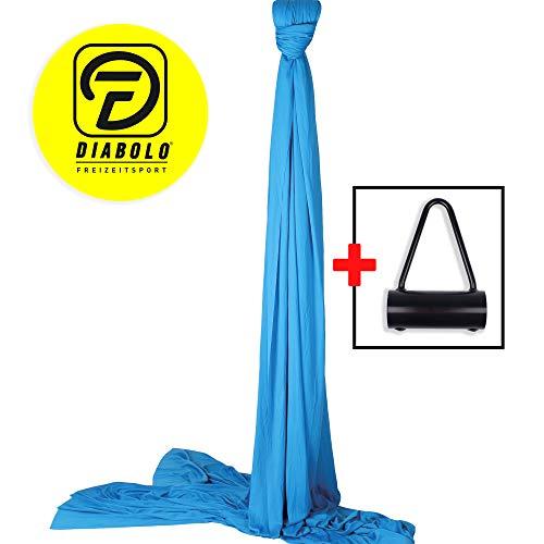 Diabolo Freizeitsport Vertikaltuch-Set inkl. Vertikaltuchhalterung Triangel für Karabiner für Artistik & Aerial Yoga l Made in Germany l 6 m, blau