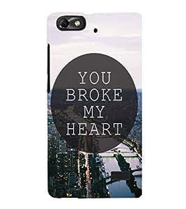 EPICCASE You Broke My Heart Mobile Back Case Cover For Huawei Honor 4C (Designer Case)