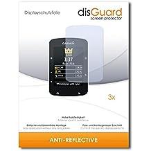 3 x disGuard Anti-Reflective Lámina de protección para Garmin Edge 520 - ¡Protección de pantalla antirreflectante con recubrimiento duro! CALIDAD PREMIUM - Made in Germany