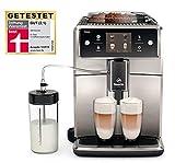 Saeco Xelsis SM7683/00 Kaffeevollautomat (1.7L, Touchscreen, Scheibenmahlwerk aus Keramik, 15 Kaffeespezialitäten) edelstahl/schwarz