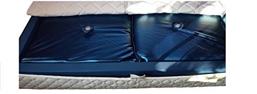 Mesamoll2® Matratze Wasserbett Softside 90x200cm für Dual Wasserbetten 180x200cm Außenkante I Premium Wasserbettkern Softside F3 75% Beruhigung - Premium Wasserbett-matratze