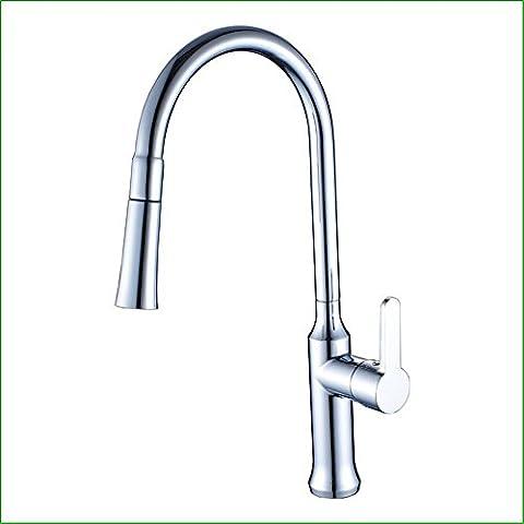 MIAORUI robinet de cuisine robinet galvanoplastie peut être pompée à abattre le nettoyage des légumes, robinet évier de cuisine du rotary