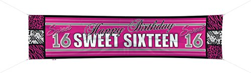Folat Stoff-Banner Girly Sweet Sixteen 180 cm