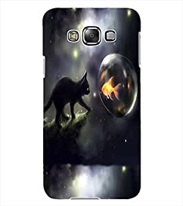 ColourCraft Cat and Fish Design Back Case Cover for SAMSUNG GALAXY GRAND MAX G720