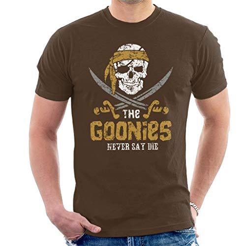 Goonies Skull Logo Never Say Die Men's T-Shirt (Truffle T-shirt Shuffle)