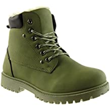 a93380e0fd stivali biker donna - Verde - Amazon.it