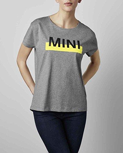 Mini Original Wordmark Logo Damen Short Sleeve T-Shirt Top grau/lemon S 80142445554 Block-logo-hut