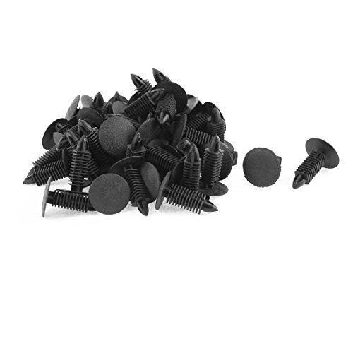 Preisvergleich Produktbild DealMux 50 Stück schwarz Kunststoff-Schraube Rivet Kotflügels Retainer Clips