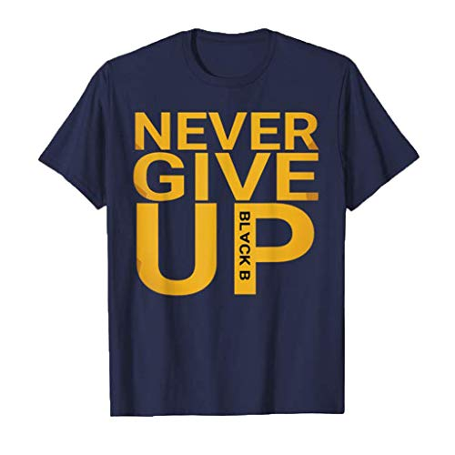 fabe324113b38 Fannyfuny T-Shirt - Never GIVE UP - Herren t-Shirt Casual Brief Blumendruck Kurzarm  Tee Tops Männer Rundhals Shortsleeve Blusen Oberteil O-Neck Locker ...