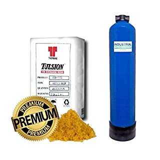 IWE 23L Litre FULL De-Ion Resin Vessel and fittings - For Pure Water/Window Cleaning Car Valeting NOT UNGER