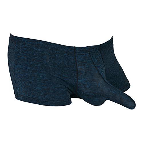 Festnight Hombres Bulge Pouch Shorts Boxer Troncos Calzoncillos con Encanto Ropa Interior de Cintura Baja Ropa de Dormir