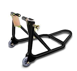 Béquille d'atelier moto roue avant ConStands Front noir mat pour Moto Guzzi 1100/ 1200 Sport, Bellagio, Breva 1100/ 1200/ 750/ 850, Griso 1100/ 850/ 8V