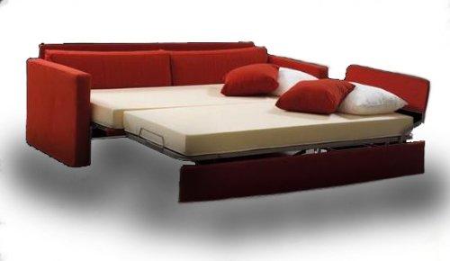 Ponti-Divani-RED-Divano-letto-singolo-con-letto-estraibile-Tessuto-Rete-a-doghe-larghe-e-Materasso