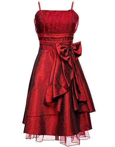 Zarlena Damen Kleid Cocktail-Chiffon-Kleid Abendkleid Ballkleid Rot M 1040