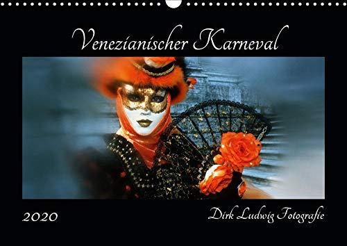 Venezianischer Karneval (Wandkalender 2020 DIN A3 quer): Karneval in Venedig von Dirk Ludwig Fotografie (Monatskalender, 14 Seiten ) (CALVENDO ()