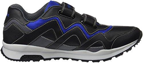 Geox Unisex-Erwachsene J Pavel A Sneaker Schwarz (Black/Royal)