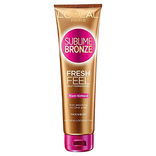 L'oreal sublime bronze fresh feel, gel autoabbronzante faccia e corpo , 150 ml