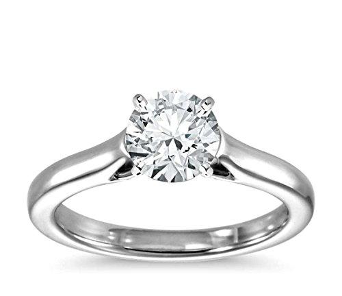 Lilu gioielli da donna 1ct Moissanite anello di fidanzamento taglio brillante rotondo in argento Sterling (Taglio Rotondo Moissanite Solitaire)