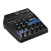 Caratteristiche: Console di missaggio a 4 canali di dimensioni compatte, leggera e portatile, adatta per home karaoke, trasmissione live in rete, registrazione di musica, ecc. Con 2 prese d'ingresso MIC / LINE (TRS & XLR 2-in-1) per il co...