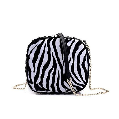 YWJHY Bolso pequeño de Leopardo, Bolso pequeño de patrón de Cebra, Producto de Tendencia de Moda Solo,Negro,Un tamaño