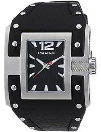 POLICE AVENGER P13401JS-02 - Reloj analógico de cuarzo para mujer, correa de cuero color negro