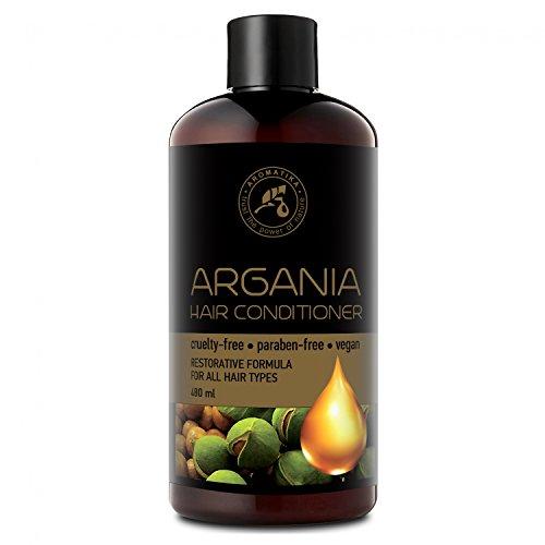 Arganöl Conditioner 480ml - mit Naturreinem Arganöl & Olivenöl - Haarspülung für Alle Haartypen - Frei von Farbstoffen & Mineralölen - Argan Haarpflege