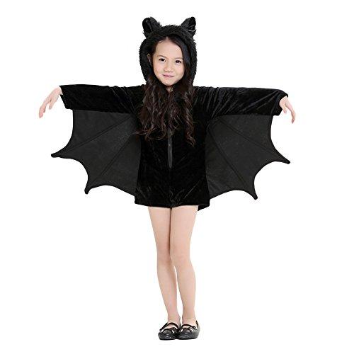 Samber Eltern-Kind Fledermaus Overall Halloween Cosplay Kostüm mit (Kostüme Halloween Eltern Und Kind)