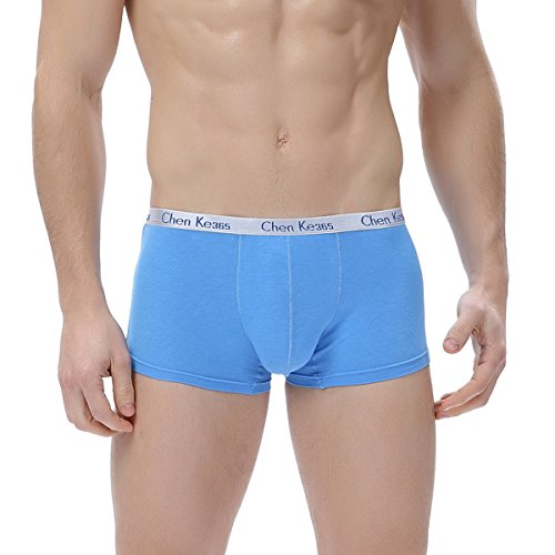 FZmix Mens Underwear Cotton Boxers Underpants Breathable Boxer Shorts Men Panties Sexy Male Underwears Blue