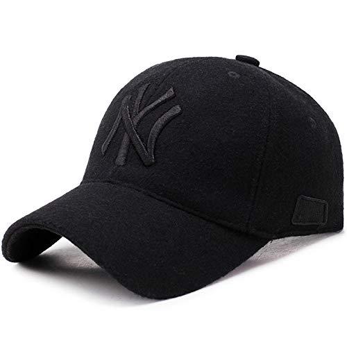 shunlidas Hüte Dekorationen Fischerhutherren Baseball Caps Baseball Caps Outdoor Lässig Herbst Und Winter @ Black Schwarz Embroidery_Adjustable
