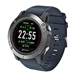 TianranRT Zeblaze VIBE 3 HR Smart Uhr Telefon Sport Männer Smartwatch FOR iOS/Android (Blau)