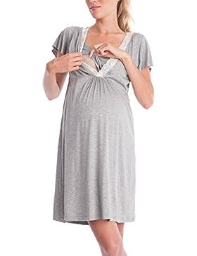 4cdd57857354  Sponsorizzato Lomon Vestito premaman da donna camicia da notte per  allattamento pigiama camicia da