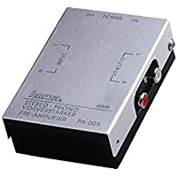 Hama - Stereo Phono Preamplifier PA 005, Plata/Negro