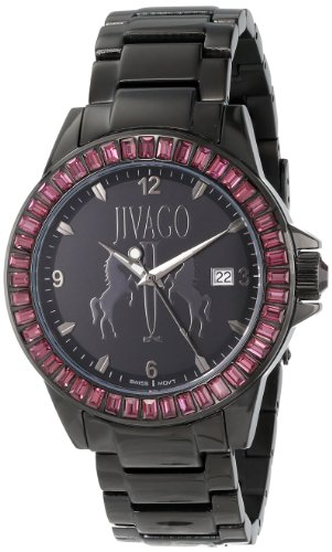 Jivago Women's Swiss Quartz Stainless Steel Casual Watch, Color:Black (Model: JV4212)