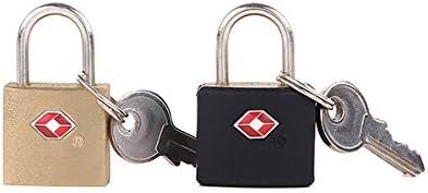 Iktu Mini Master Lock Padlock, Keyed TSA-Accepted Luggage Lock Brass+ABS (Assorted Design/Colors)
