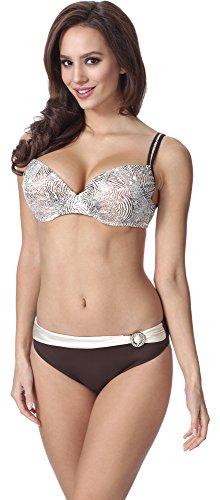 Feba Figurformender Damen Push up Bikini F01 (Muster-330, Cup 90E/Unterteil 44)