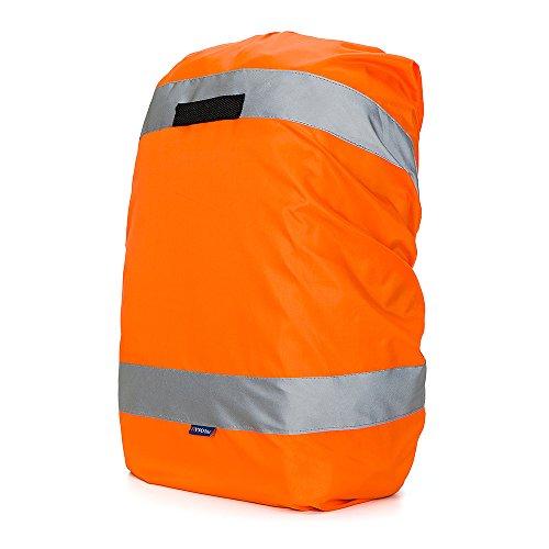 AYKRM Rucksackschutz Schultasche Regenschutz Regencape Rucksackcover Sicherheitsüberzug Reflektorüberzug (Orange, 20-40L)