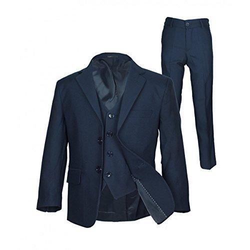 SIRRI Italian Schnitt Jungen-marineblau Anzug, Seite Junge Hochzeit Ball Kommunion Jungen Anzug - Marineblau 3 Teile, 134
