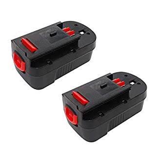 TURPOW 2 Pack 18V 3500mAh Ni-MH Replacement Batteries for Black & Decker HPB18-OPE HPB18 A1718 FS180BX FSB18 244760-00 18-Volt Outdoor Cordless Power Tools