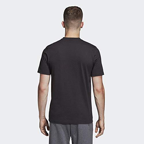 adidas Essentials Linear T-Shirt, T-Shirts Uomo, Black/White, L