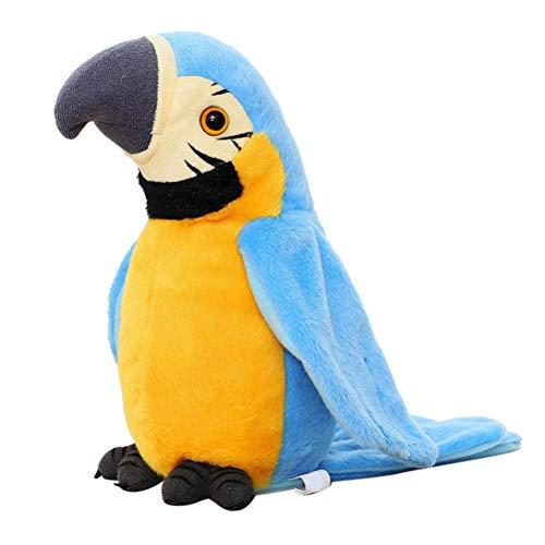 Mimiga Talking Bird Peluche Pappagallo Elettrico Simulazione di Peluche Giocattolo Pappagallo Ara Giocattolo Simpatico Pappagallo Bambola Regalo per Bambini, 12X11X22 cm