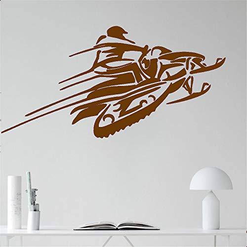 Schneemobile Wand Vinyl Aufkleber Aufkleber Racing Winter Extreme Sport Kunst Design Wandbilder Innen Wohnkultur Haus Zubehör 57 * 116 cm - Extreme Pizza