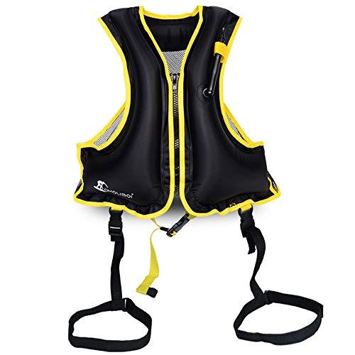 RFDSC Gilet Gonfiabile Confortevole Premium per Snorkeling Kayak da Surf con Blocco Sicuro per Adulti e Bambini