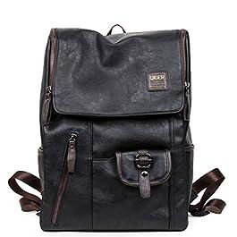 Borsa per studenti, borsa a tracolla versatile, zaino in pelle Pu, borsa per laptop retrò europea e americana