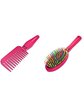 2Stück Mädchen/Damen Rainbow Hair, Bürste und Kamm Set–Tütenfüller/Weihnachten sockenfüllmaterial