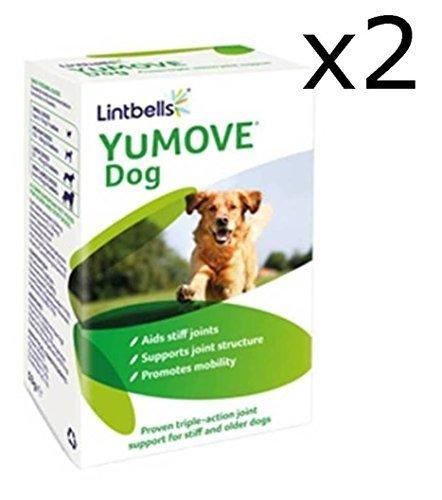 Lintbells Yumove - Complément alimentaire triple action pour articulations pour chien âgé - lot de 2 boîtes de 120 comprimés